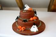 Halloween Themed Celebration Cake