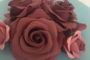 Hand made sugar roses