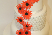 3 tiers - Fruit, carrot and orange sponge