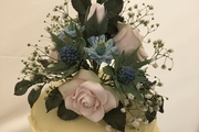 Hand Made sugar roses, thistles, Nigella with real gypsophelia