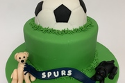 Dog and Football Lover's Ideal Cake