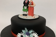 Bespoke Bride and Groom Topper for this Scottish Wedding